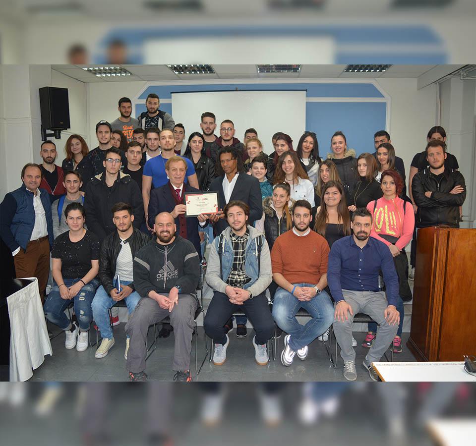 Εντυπωσίασε τους σπουδαστές Προπονητικής του ΙΕΚ ΑΛΦΑ Αθήνας ο Ντανιέλ Μπατίστα