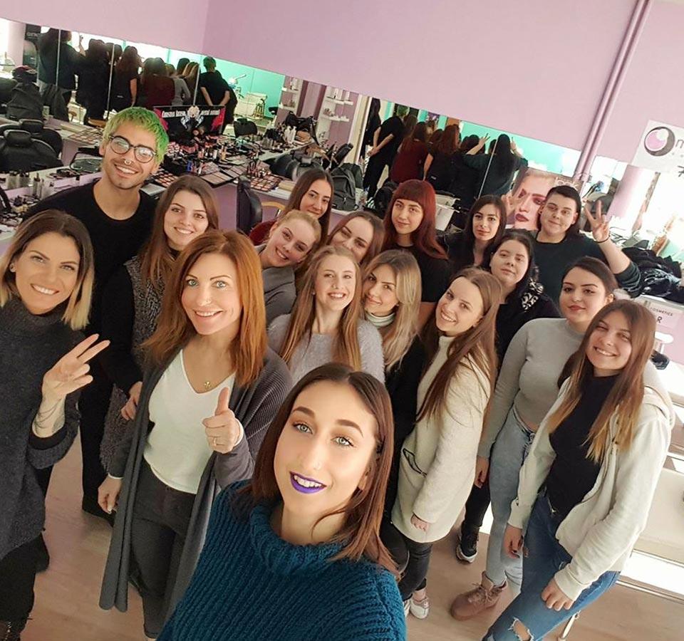Σεμινάριο Έκπληξη από τη NYX στον Τομέα Ομορφιάς του ΙΕΚ ΑΛΦΑ Θεσσαλονίκης